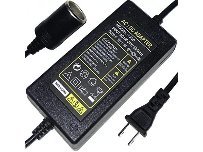 110V to 12V Converter AC to DC Car Cigarette Lighter Socket Adapter