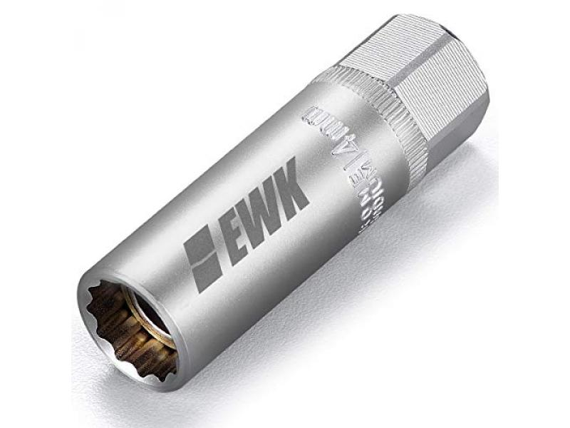 EWK 14mm 12 Point Thin Wall Magnetic Spark Plug Socket 3/8 Inch Drive
