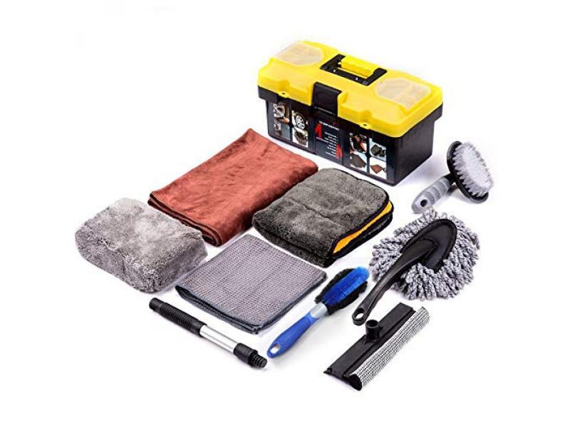 Mofeez 9pcs Car Cleaning Tools Kit