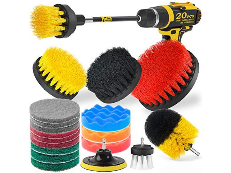 Holikme 20Piece Drill Brush Attachments Set