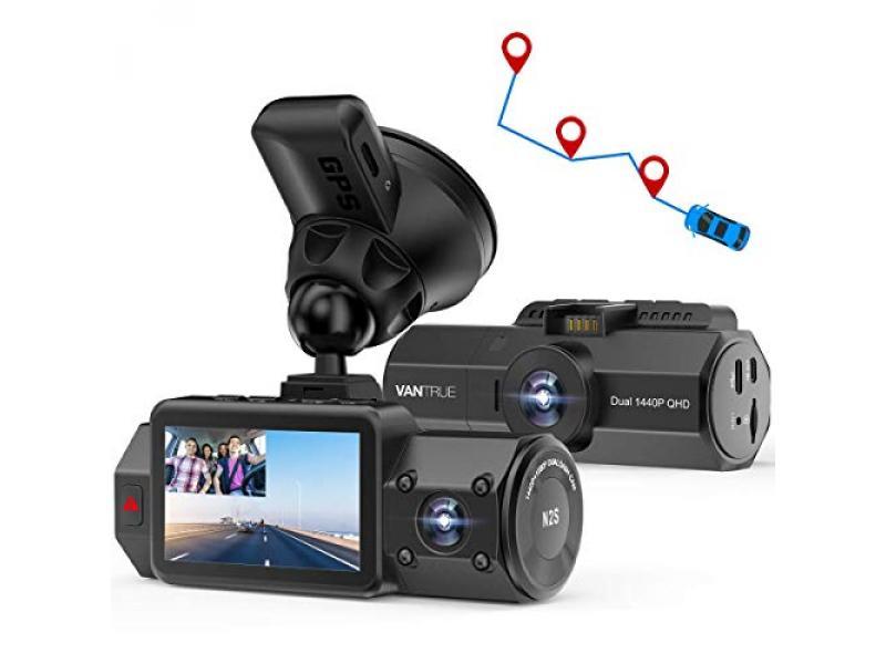 Vantrue N2S Dual 2.5K Dash Cam with GPS