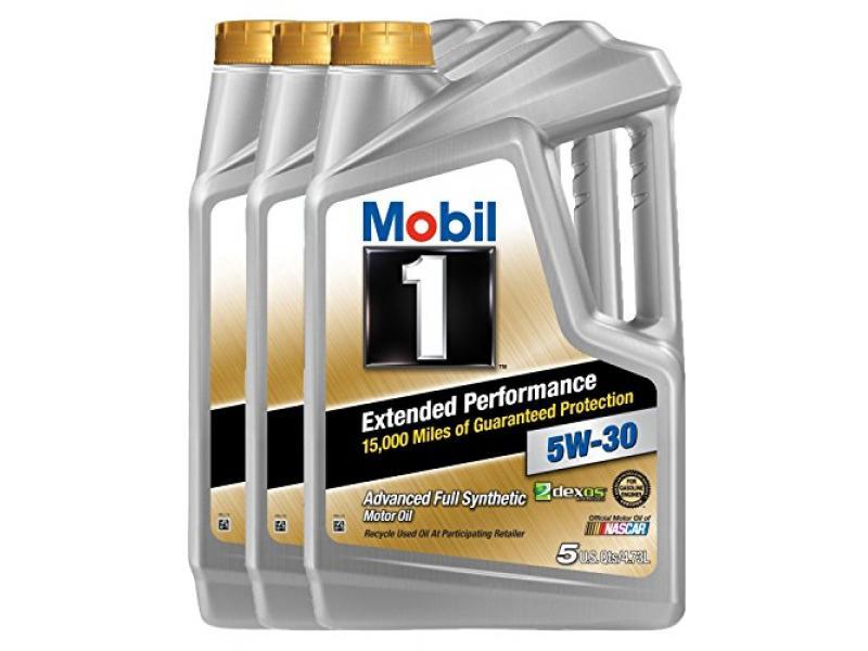 Mobil 1 (120766-3PK) Extended Performance 5W-30 Motor Oil, 5 Quart, Pack of 3