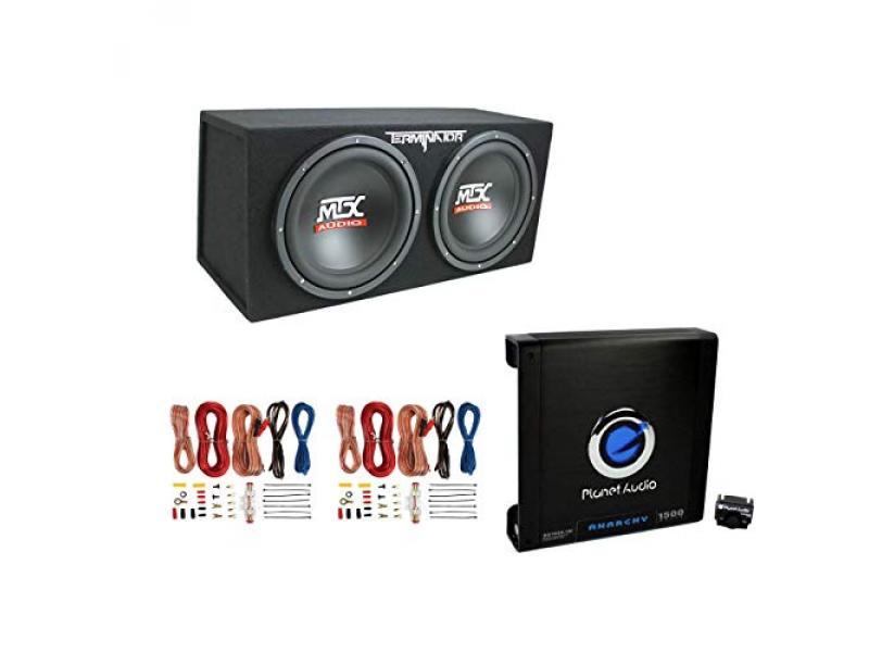 MTX TNE212D 12 1200W Dual Loaded Subwoofers