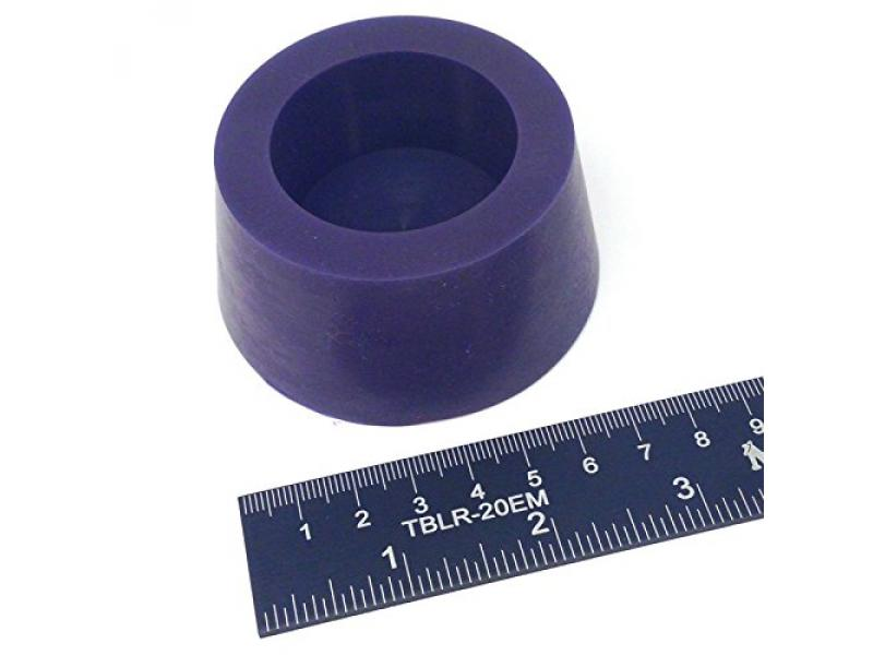 (1) 2 7/16 x 3 #13.5 High Temp Silicone Rubber Tapered Stopper