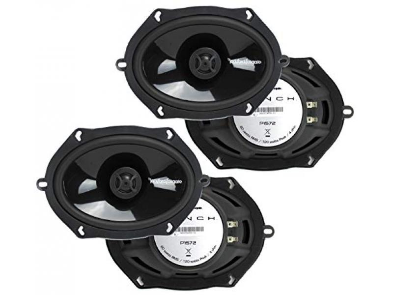 2 Pairs of Rockford Fosgate P1572 5x7 Punch Series 2-Way Coaxial Car Speakers