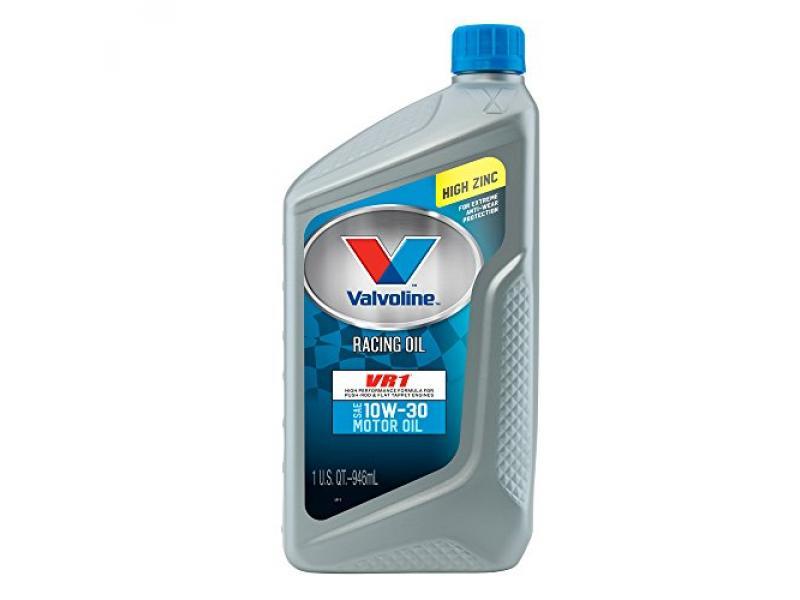 Valvoline VV205 VR1 Racing Formula SAE 10W-30 Turbo Approved Motor Oil