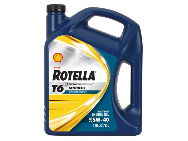 Shell Rotella T6 Full Synthetic Heavy Duty Engine Oil 5W-40 - 3 Pack