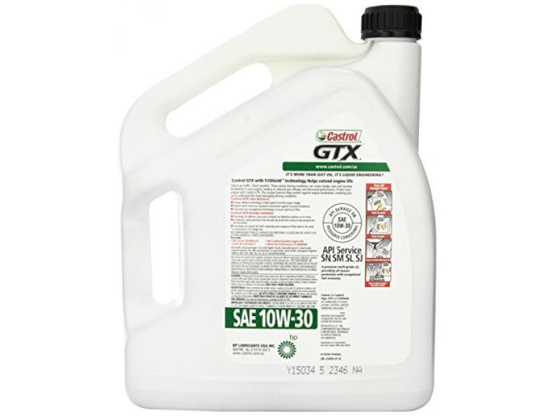 Castrol GTX 10W-30 Motor Oil 03093  - 5 Quart