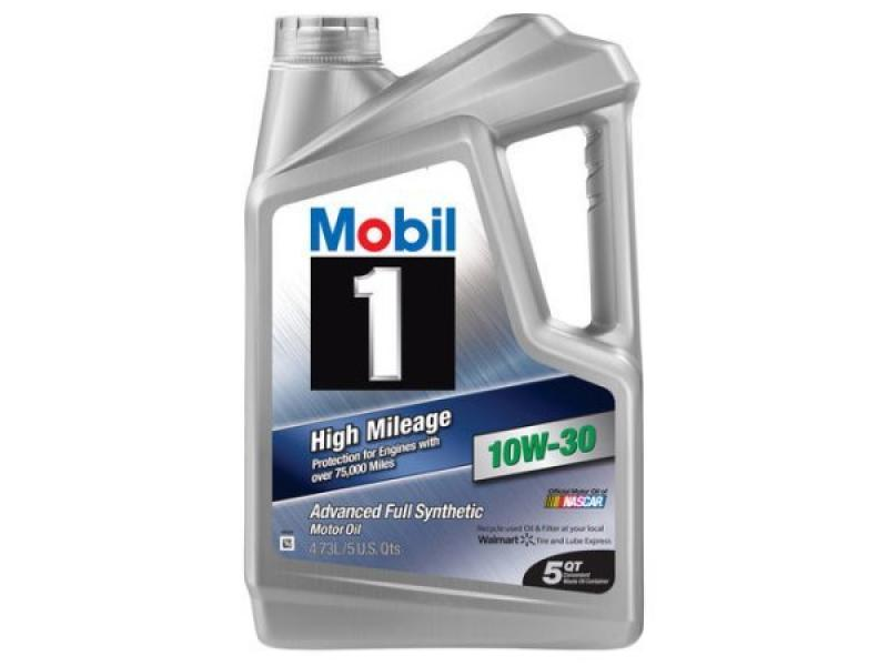 Mobil1 10W-30 High Mileage Full Synthetic Motor Oil - 5 Quart