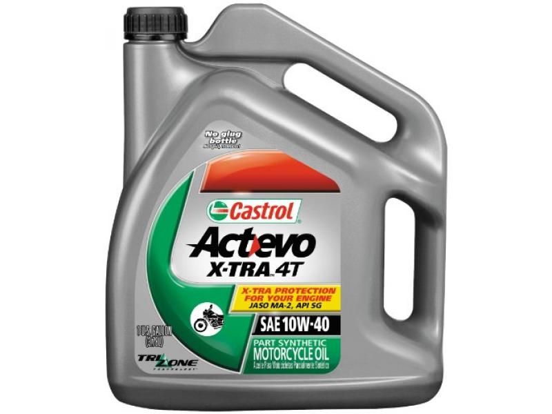 Castrol 10W40 Actevo X-tra 4T Motorcycle Oil - 1 Gallon (packagin may vary)