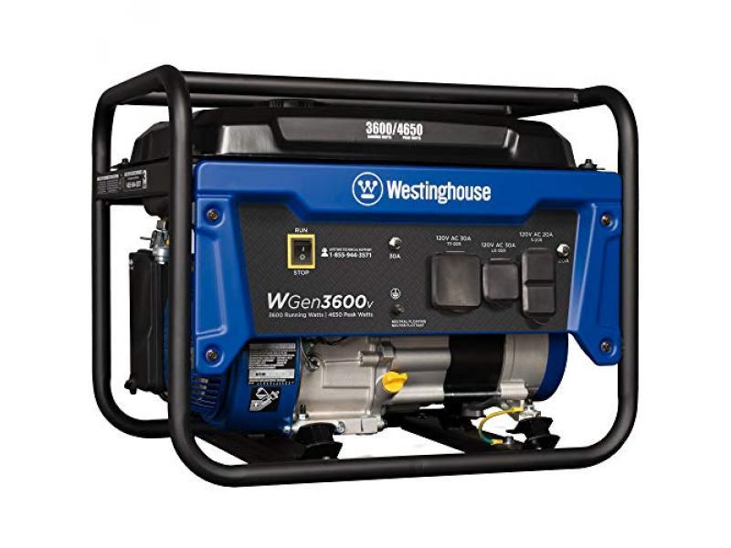 Portable Generator 3600 Rated and 4650 Peak Watts