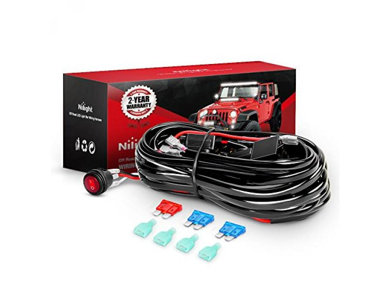 Nilight - NI -WA 06 LED Light Bar Wiring Harness Kit