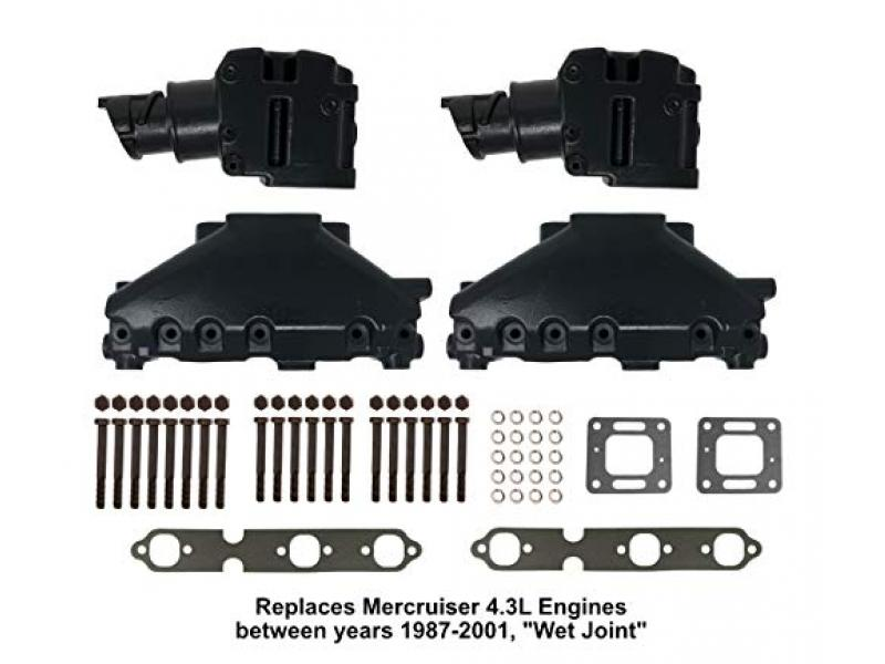 4.3L Mercruiser Exhaust Manifold & Elbow/Riser Kit