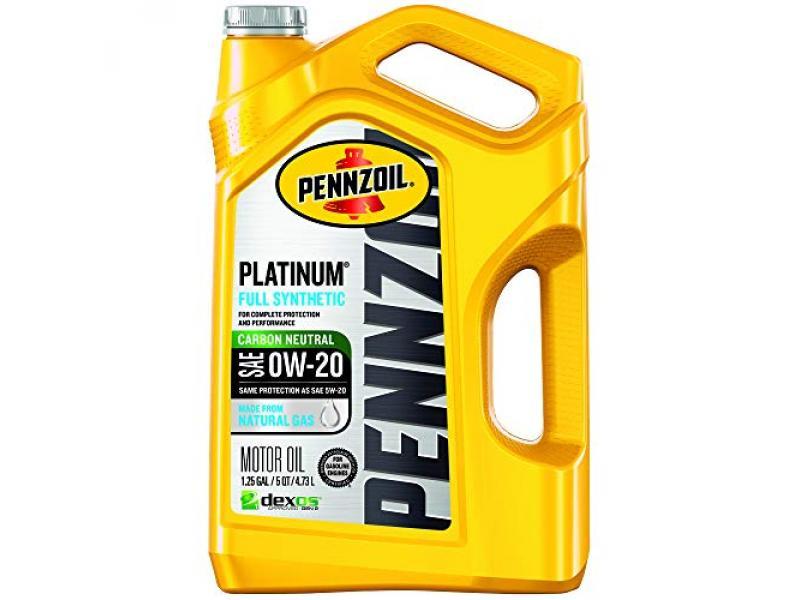 Pennzoil 550046127 Platinum Full Synthetic Motor Oil (SAE, SN) 0W-20