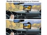 PORMIDO Solar Wireless Backup Camera License Plate with Monitor Kit Photo 2