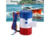 Cuque 12V 1100GPH Electric Submersible Sump Pump Diameter 3 cm / 1.2 Inches Built-in Marine Float Marine Water Bilge Pump Built-in Marine Float for Yacht Boat Switch Photo 1