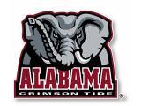 R and R Imports Alabama Crimson Tide Sports Team Large Mascot Vinyl Decal Sticke