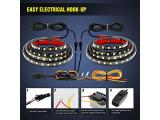Nilight - TR-05 2PCS 60 Inch 180 LEDs Bed Strip Kit Photo 4