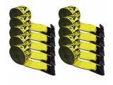 Heavy Duty Tie-Down Winch Strap with Flat Hooks