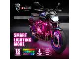 MZS Motorcycle LED Light Kit Multi-Color Neon RGB Strips Photo 2
