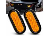 TL-08 6 Inch Oval Amber LED Trailer Tail Lights 2PCS