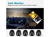 Partsam 5X Amber 24 LED Smoke Cab Roof Running Top Marker Lights Photo 2