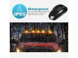 Partsam 5X Amber 24 LED Smoke Cab Roof Running Top Marker Lights Photo 3