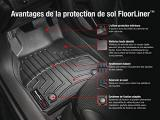 WeatherTech Custom Fit FloorLiner for Ford Flex -1st & 2nd Row (Black) Photo 2