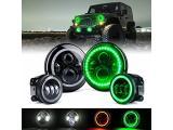 Xprite 7 90W CREE LED Headlights & 4 Inch 60W Fog Lights Comb