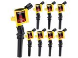 CarBole 8 Pack Curved boot Ignition Coils - 15% More Energy