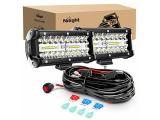 Nilight ZH303 2PCS 6.5 Inch 120W Spot & Flood Combo Driving 16AWG