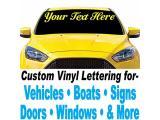 1060 Graphics 5 high Custom Vinyl Lettering