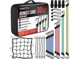 Fortem Bungee Cords with Hooks, 30pc Set